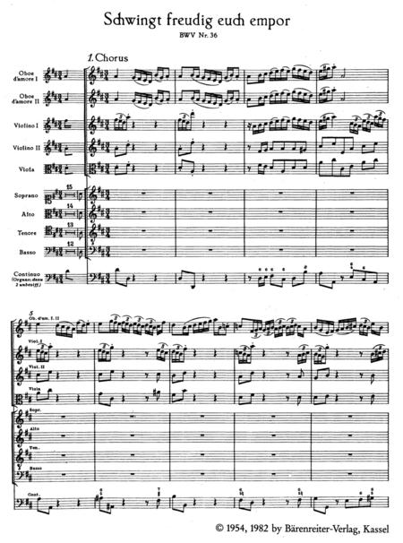 Schwingt freudig euch empor, BWV 36