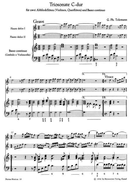 Triosonate aus