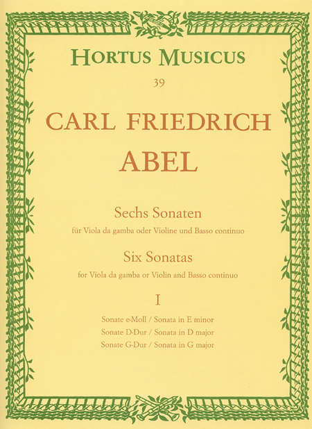Sechs Sonaten fur Viola da gamba (Violine, Flote) und Basso continuo. Heft 1