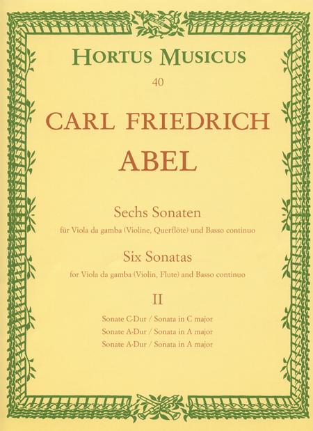 Sechs Sonaten fur Viola da gamba (Violine, Flote) und Basso continuo. Heft 2