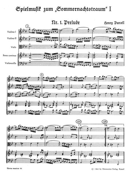 Spielmusik zum Sommernachtstraum. Heft 1 (Nr. 1 - 10)