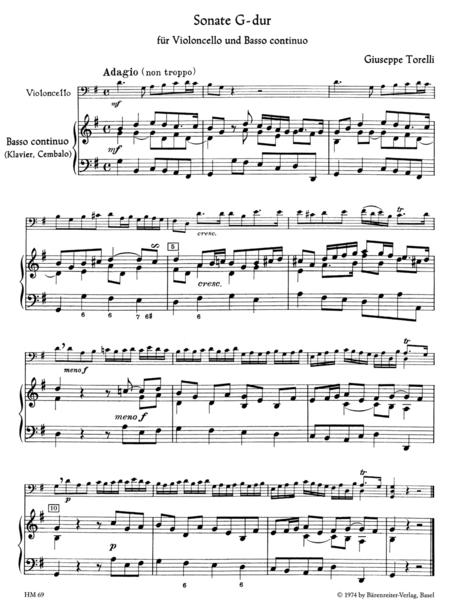 Sonate for Violoncello and Basso continuo G major