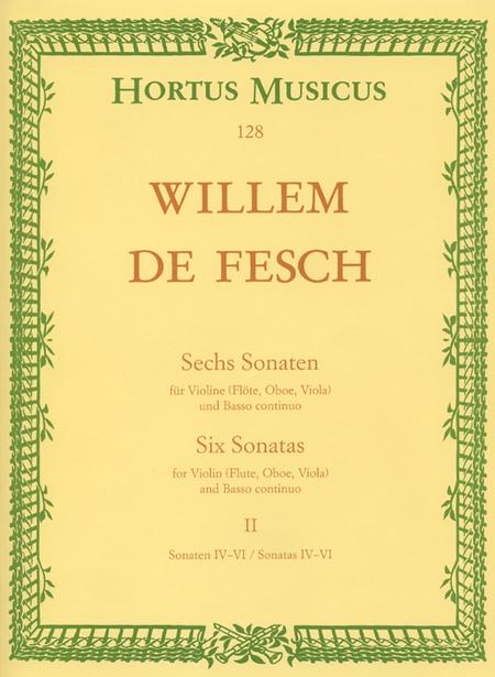 Sechs Sonaten for Violin (Flute, Oboe, Viola, Alto Viol) and Basso continuo