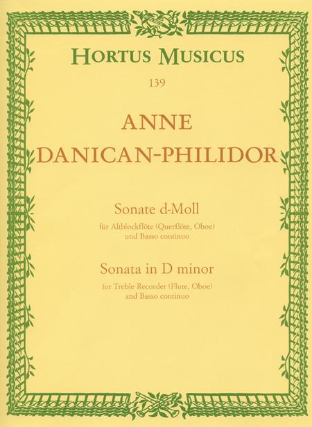 Sonate for Treble Recorder (Flute, Oboe) and Basso continuo d minor