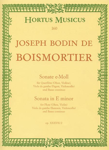 Sonate for Flute (Oboe, Violin), Viol (Bassoon, Violoncello) and Basso continuo e minor op. 37/2
