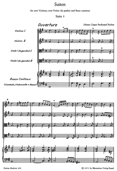 Zwei Suiten for four Instruments (Viols)