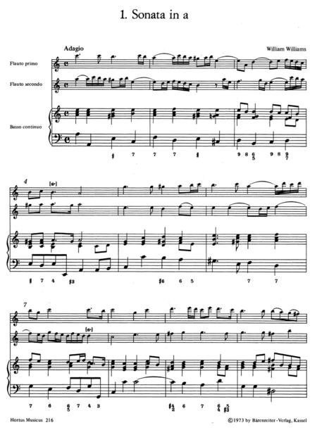 Triosonaten alter englischer Meister for 2 Treble Recorders and Basso continuo
