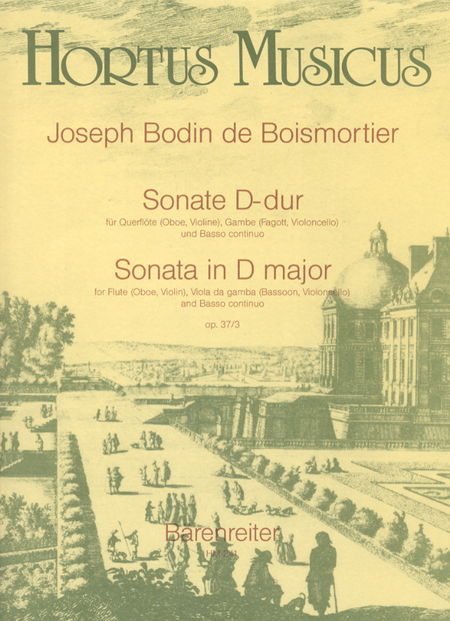 Sonate for Flute (Oboe, Violin), Viol (Bassoon, Violoncello) and Basso continuo D major op. 37/3