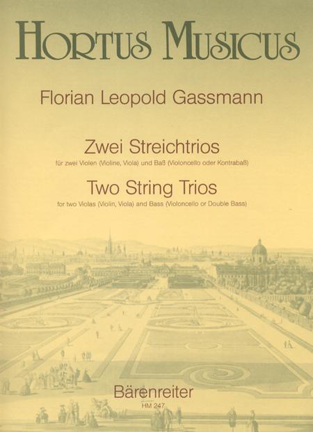 Zwei Streichtrios fur zwei Violen (Violine, Viola) und Bass (Violoncello oder Kontrabass)