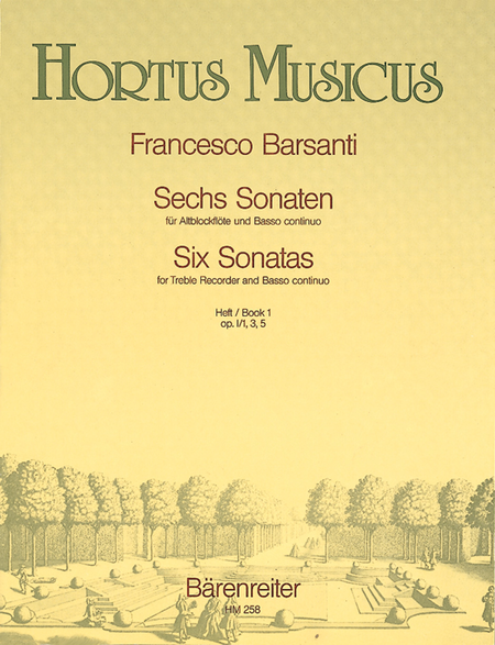 Sechs Sonaten fur Blockflote und Basso continuo, Heft 1