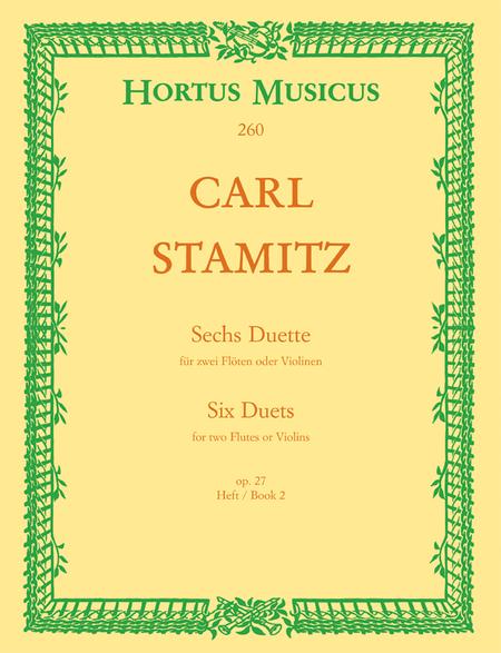 Sechs Duette fur zwei Floten oder Violinen. Heft 2, Op. 27