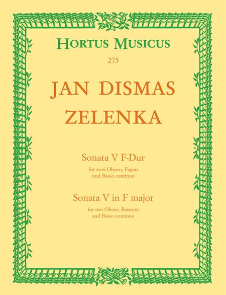 Sonata V fur zwei Oboen, Fagott und Basso continuo fur zwei Oboen, Fagott und Basso continuo F major ZWV 181/5