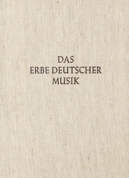 Das Glogauer Liederbuch I und II. Das Erbe Deutscher Musik VII/1 und 3