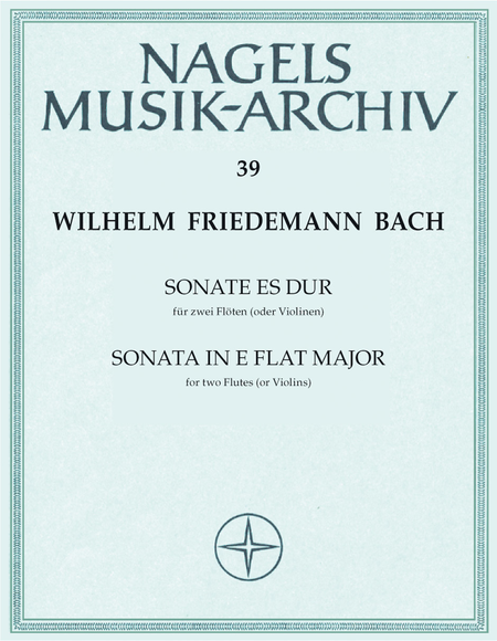 Sonate fur zwei Floten E flat major