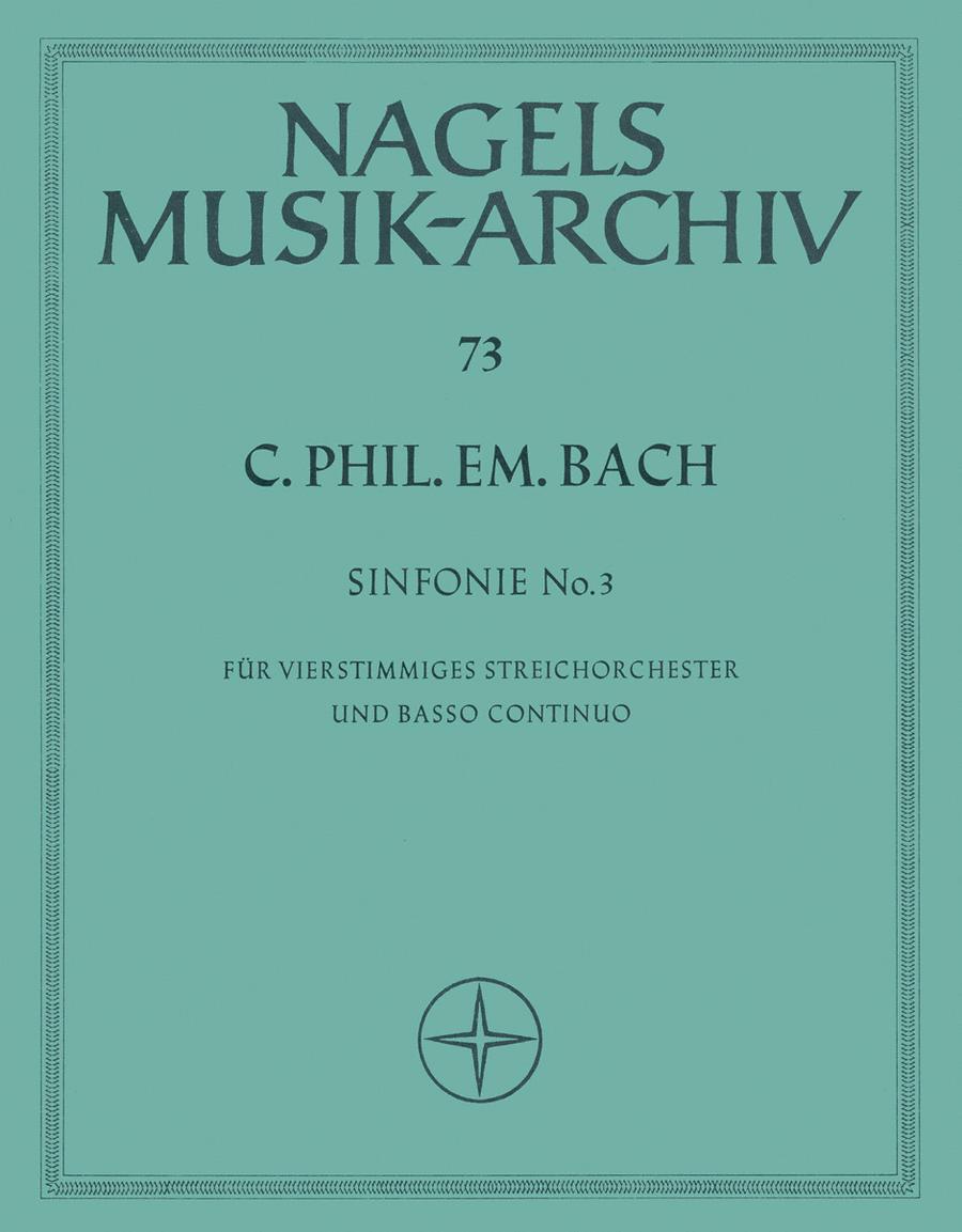 Sinfonie fur Streicher und Basso continuo C major Wq 182/3