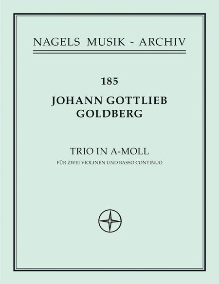 Triosonate fur zwei Violinen und Basso continuo a minor