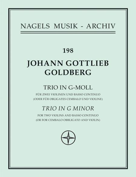 Sonate fur zwei Violinen und Basso continuo oder fur Violine und Cembalo obligat g minor