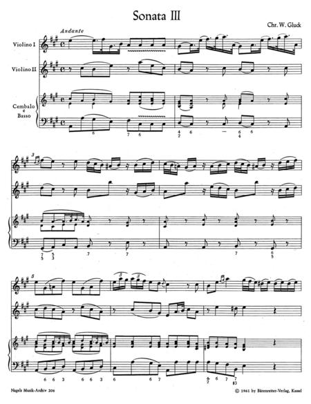Zwei Triosonaten for two Violins and Basso continuo