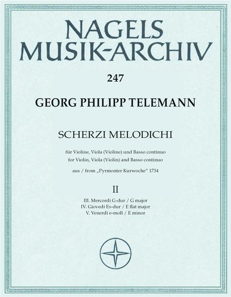 Scherzi melodichi fur Violine, Viola (Violine) und Basso continuo aus