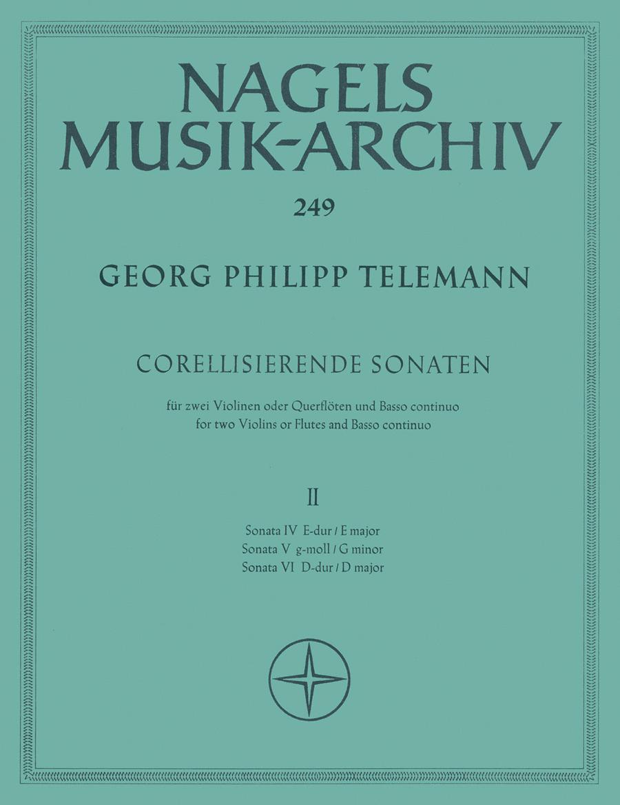 Corellisierende Sonaten fur 2 Violinen (Floten) und Basso continuo. Heft 2