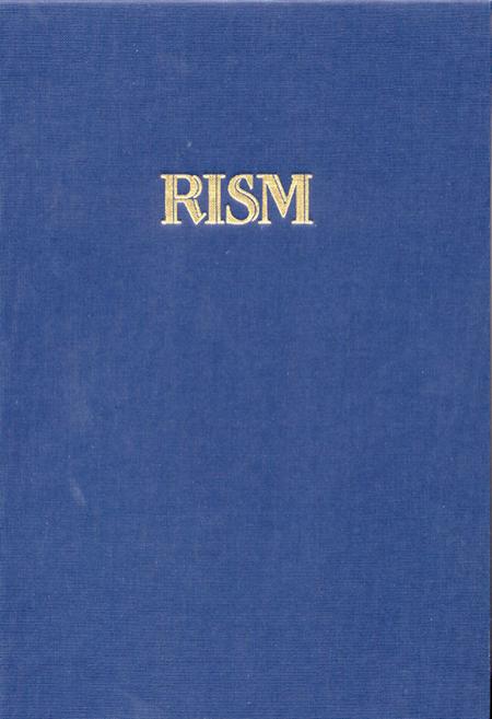 Internationales Quellenlexikon der Musik (RISM). Serie A/I Einzeldrucke vor 1800, Band 8: Schrijver - Uttini