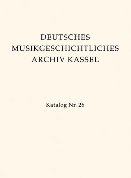 Deutsches Musikgeschichtliches Archiv Kassel. Katalog der Filmsammlung