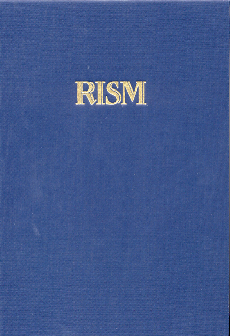 Repertoire International des Sources Musicales (RISM) / Internationales Quellenlexikon der Musik. RISM-Bibliothekssigel