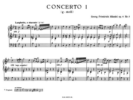 Orgelkonzerte fur Orgel allein mit Pedal. Heft 1, Op. 4