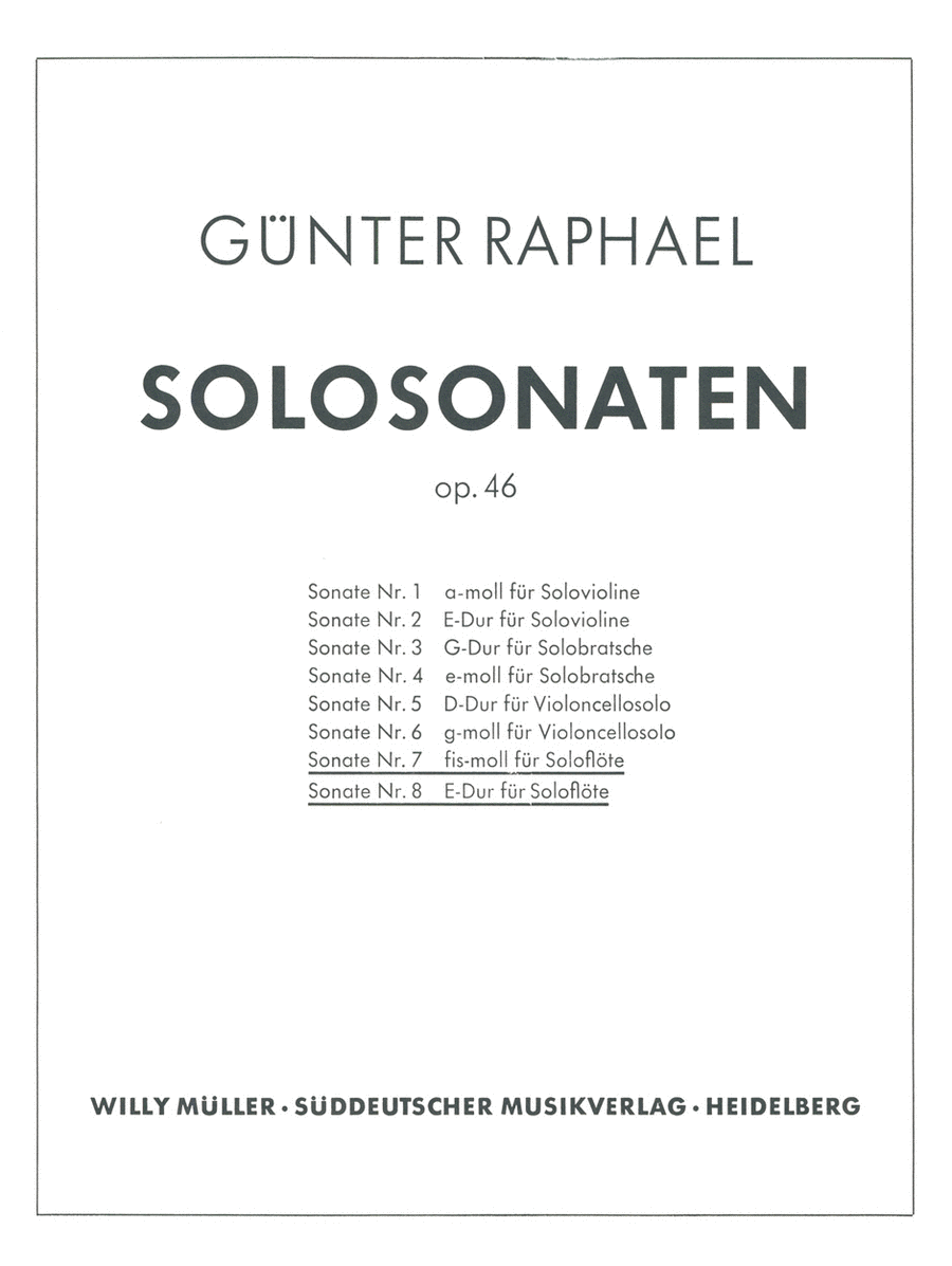 Zwei Solosonaten (1946) f sharp minor, E major, Op. 46,7/46,8