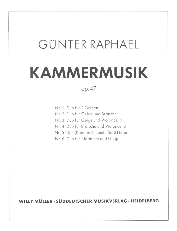 Duo (1940) E major, Op. 47,3