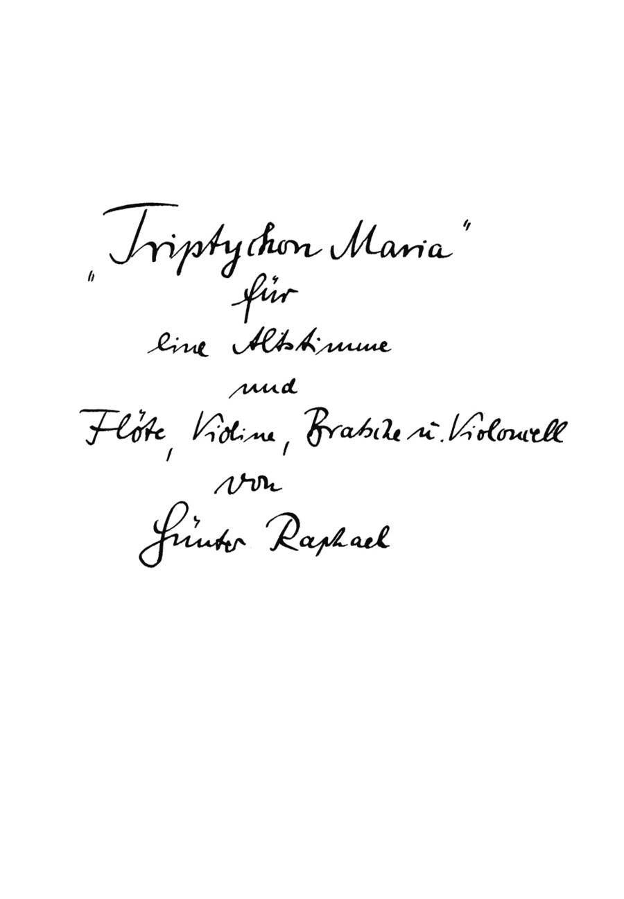 Triptychon Maria