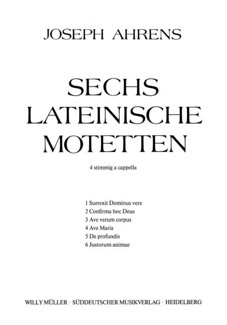 Sechs lateinisceh Motetten
