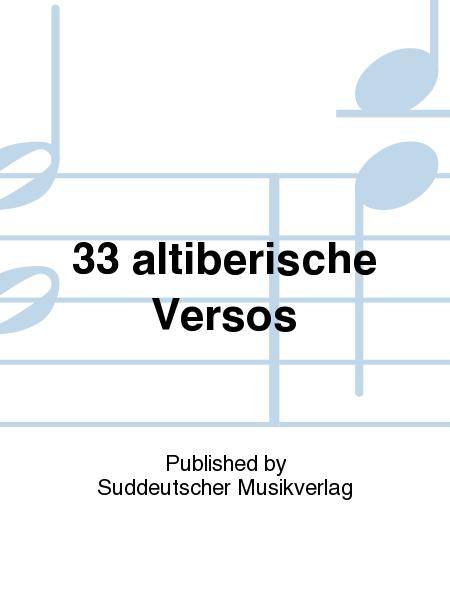 33 altiberische Versos