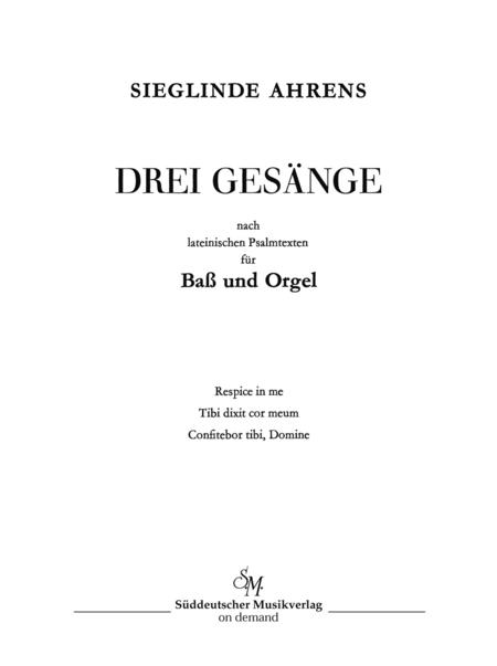 Drei Gesange nach lateinischen Psalmtexten (1963)