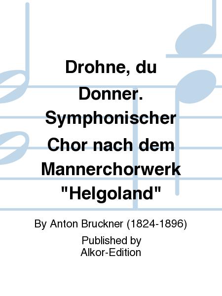 Drohne, du Donner. Symphonischer Chor nach dem Mannerchorwerk
