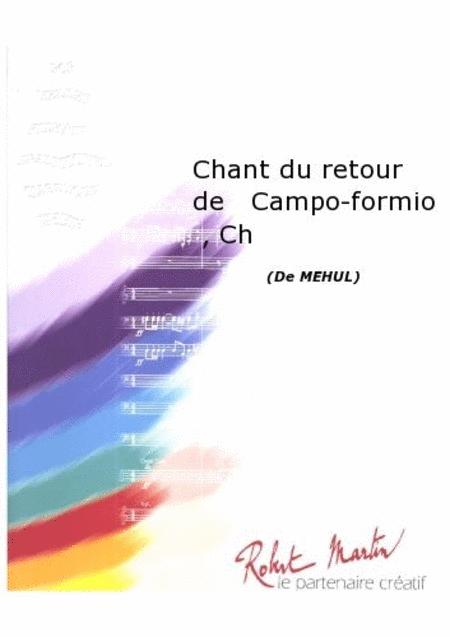 Chant du Retour de Campo-Formio, Chant/choeur