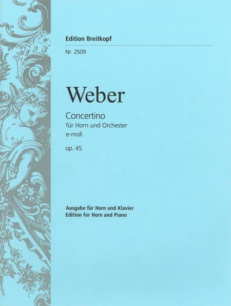 Concertino e-moll op. 45