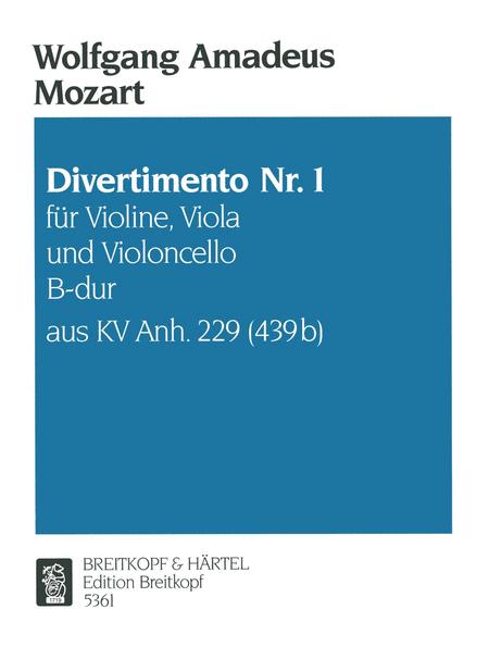 Divertimento KVAnh229(439B) Nr. 1