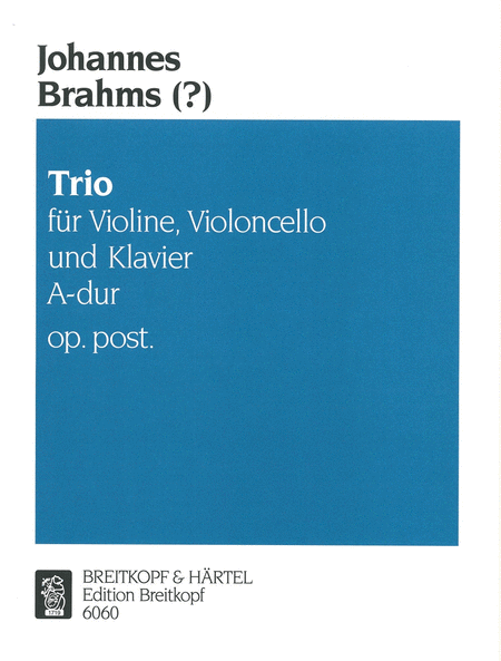 Klaviertrio A-dur op. post.