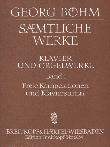 Samtliche Werke fur Tasteninstrument Band 1