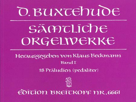 Samtliche Orgelwerke, Band I