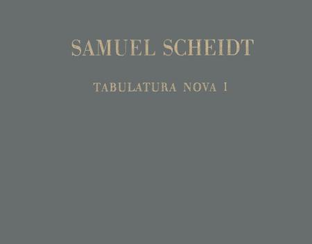 Tabulatura Nova, Teil 1