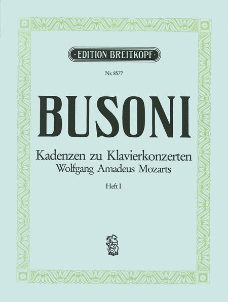 Kadenzen zu den Klavierkonzerten von W. A. Mozart Bd. 1