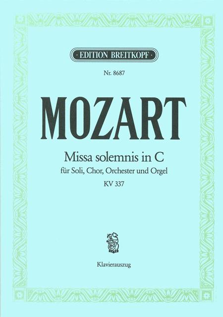 Missa solemnis C KV 337