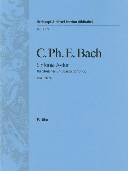 Symphonie Nr. 4 A-dur Wq 182/4