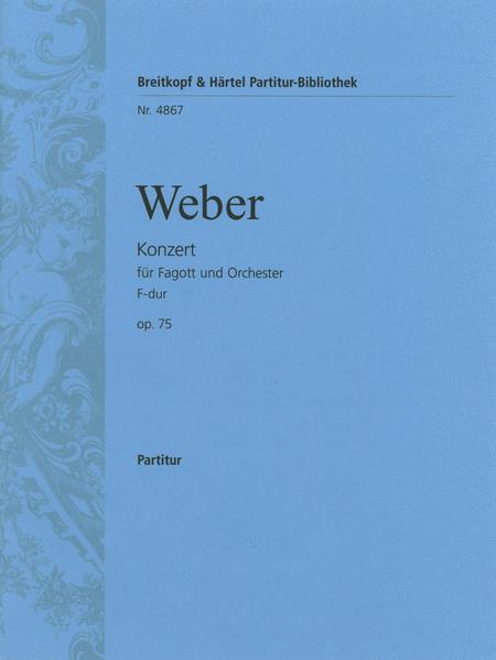 Fagottkonzert F-dur op. 75
