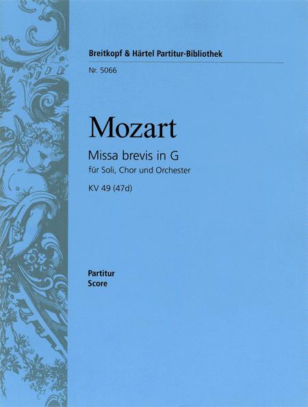 Missa brevis in G KV 49 (47d)
