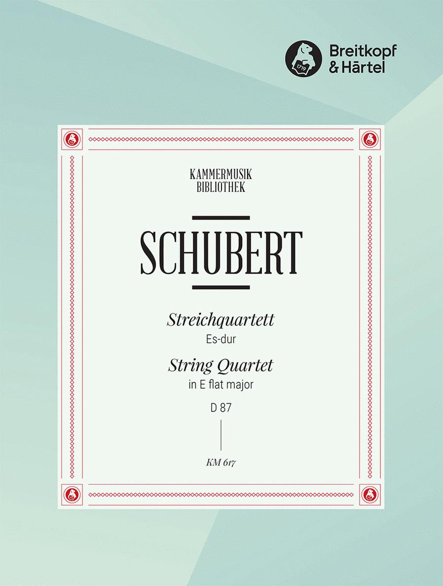 Streichquartett Es-dur D 87