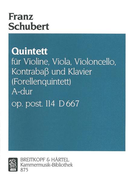 Quintett A-dur D 667(Forellen)