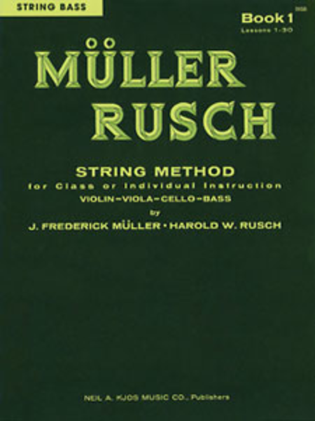 Muller-Rusch String Method Book 1 - String Bass